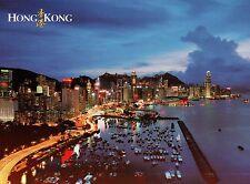 Causeway Bay, Typhoon Shelter & Hong Kong Island, Harbour, China, HK -- Postcard