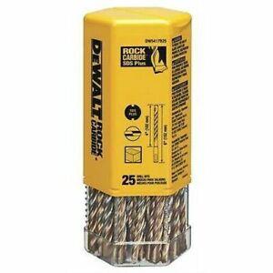 "(Pack of 25 Bits) DeWalt DW5403B25 3/16"" x 6-1/2"" Rock Carbide Plus SDS+ Hammer"