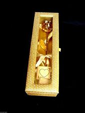 Valentine Romantic Gift 24k Gold Dipped Real Rose in Vintage Row Silk Frame