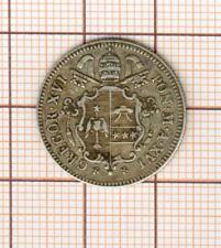 Papal coin  Grégoire XVI 10 BAIOCCHI Silver 1846