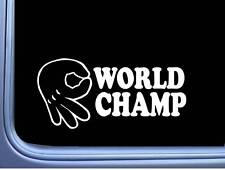 Circle Game World Champ Vinyl Decal M122 8 Inch Sticker car laptop mickey hand