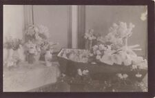 1896 POST MORTEM OF YOUNG GIRL IN COFFIN SURROUNDED BY FLOWERS -MASSACHUSETTS