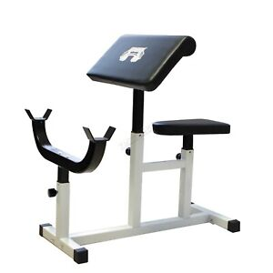 FIT4YOU Steel Preacher Arm Curl Weight Bench Bicep Gym Equipment Barbell Rack