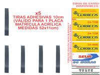 5 TIRAS ADHESIVAS PARA PEGAR MATRICULA ACRILICA METACRILATO COCHE SIN TORNILLOS