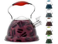 2.6 L Marrone fischiettare Brocca Bollitore Acciaio Inox//3D//di design per Campeggio Pesca
