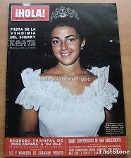 HOLA 1569 FIESTA DE LA VENDIMIA MISS ESPAÑA 1974 MARIA SALERNO MARIANNE HOLD
