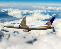 BOEING 787-8 DREAMLINER UNITED AIR LINES 16x20 SILVER HALIDE PHOTO PRINT