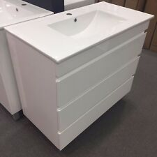 Vanity FDL - 900*460*880 Ceramic Thin Top, 3 Hidden Handles Drawers