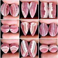 Rhodochrosite Natural Designer Cabochon Matched Pair Untreated Gemstones PK17