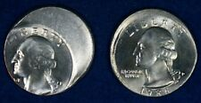 1986-P & ? 25c Washington Quarter Off Center/Mistruck Error Coins