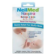 NeilMed Naspira Nasal-Oral Aspirator For Babies & Kids - Clear Stuffy Nose Mucus