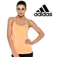 Adidas Womens Clima Essential Strap Vest Top T-Shirt Fitness Gym Free Delivery