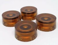 True Custom Shop® Amber Embossed Speed Knob Set for Gibson USA Les Paul Epiphone