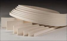 White Cowhide Strips 1 inch x 48 inch (4526-21) White Bear Leather
