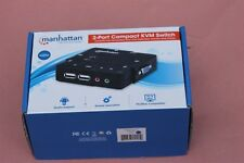 Manhattan 2 Port Compact KVM Switch New in Box model 157252