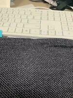 "80% Wool  20% nylon NAVY Knit Fabric By the Yard  60"" wide BTY 5.76 oz/sq yd"