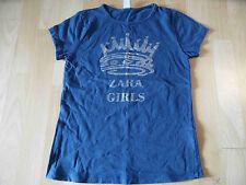 ZARA schönes Shirt m. Krone blau Gr. 140 TOP SH316
