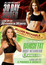 Jillian Michaels: 30 Day Shred/Banish Fat, Boost Metabolism DVD (2013) Jillian