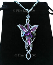 Evenstar Necklace Silver PURPLE Crystals LOTR Lord Of The Rings Hobbit Arwen
