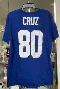 Nike New York Giants Victor Cruz Tee Blue Men's L