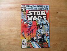 1981 MARVEL COMICS STAR WARS # 53 SIGNED 3X WALT & LOUISE SIMONSON & TOM PALMER