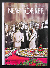 New Yorker COVER Dec 13 1969 Charles Saxon, Xmas party ADD'L COVERS SHIP FREE