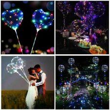 "20"" Led Light Up Luminous Bubble Balloons Wedding Birthday Party Decor Supplies"