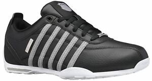 K. Swiss Arvee 1.5 Black Grey Chambray Mens Leather Trainers