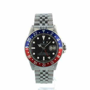Rolex GMT Master 1675 Pepsi Blue Red Bezel Stainless Steel Jubilee Bracelet 1970