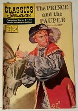 CLASSICS ILLUSTRATED NO. 29 - THE PRINCE AND THE PAUPER - REPRINT