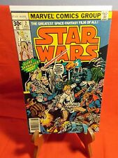"""STAR WARS # 2 """"SIX AGAINST THE GALAXY!"""" AUG 1977 1ST PRINT 30 CENT MARVEL 9.0"""