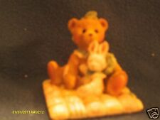 Cherished Teddies Camille I'd be lost without you bear with bunny 1991 95042