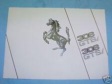 Ferrari 308 GTBi GTSi Sales Brochure Catalogue