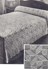 Vintage Crochet Bedspread PATTERN MOTIF BLOCK Popcorn