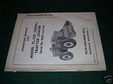 ALLIS-CHALMERS 12 WHEEL LOADER OPERATORS TRACTOR MANUAL