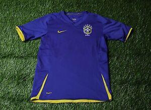 BRAZIL NATIONAL TEAM 2007-2009 FOOTBALL SHIRT JERSEY AWAY NIKE ORIGINAL YOUNG L