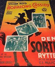 LOST CANYON, HOPALONG CASSIDY, Simonex-Film, R-1950s, DANISH MOVIE POSTER
