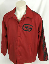 General Tire Red Button Jacket w/ Tire Tread Sleeve Chalk Line Brand Men's Large