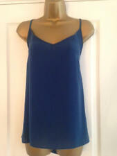 BNWT M&S Collection Blue Camisole Cami Top Sleeveless Blouse Vest Shell Strappy