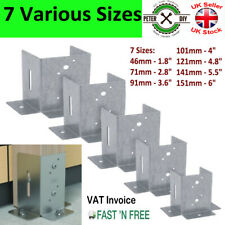 OPEN POST SUPPORT (3 Sided) Bolt Down BASE PERGOLA 46 to 150 mm Foot Galvanised