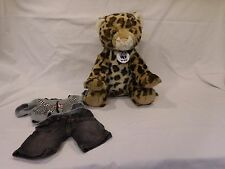 Build a Bear Leopard WWF Retired World Wildlife Fund Plush Animal + Medallion +