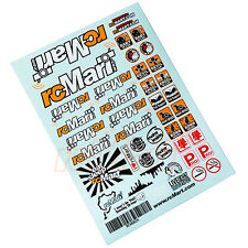 rcMart Stylish Sticker A5 1:10 2WD 4WD RC Cars Crawler Drift Touring #RCM0024