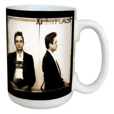 Johnny Cash Mug. Large 15 Ounce Coffee Mug w/ Comfortable Handle. Quality Mug!