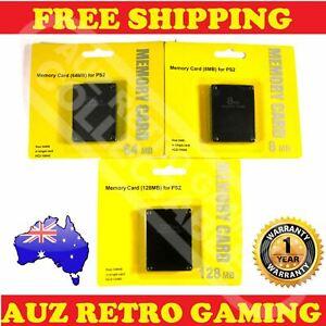 New PS2 Playstation 2 Memory Card Data Save Pack 128MB 64MB 8MB
