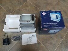 """Vintage Collectable Woolworths Retro 5.5"""" Portable B/W TV and AM/FM  Radio & Box"""