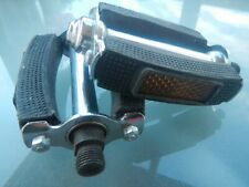 PEDALS Vintage Rubber Block Style Cycle Pedal Chopper Old school Retro 9/16""