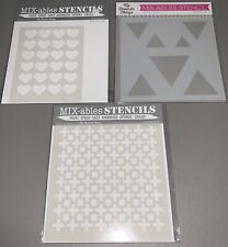 *A* Lot of 3 BRAND NEW My Favorite Things Mix-ables Stencil Sets MFT Retired