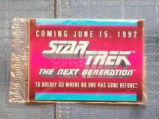 Star Trek The Next Generation Trading Cards Coming June 15, 1992 U.S.S Enterpris