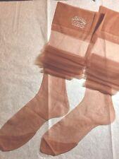 13 Pairs Shaleen 15D Flat Knit Silky Sheer 4 1/2�Toe Nylon Stockings 9 1/2 X 33