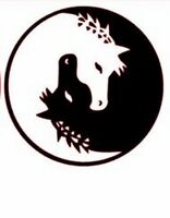 Bumper car Vinyl Sticker Motorbike decal window Bike vehicle Yoga Horse yin yang